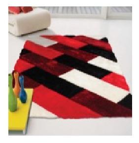 alfombra premium 100% poliester 80x150cm cuadros rojos
