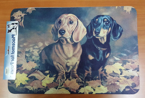 alfombra puertas americana perro dachshunds , 48 x 32 cms