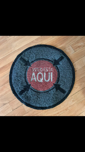 alfombra redonda usted está aquí. 63cm de diámetro.