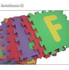 alfombra rompecabezas para niños didactico de goma antigolpe