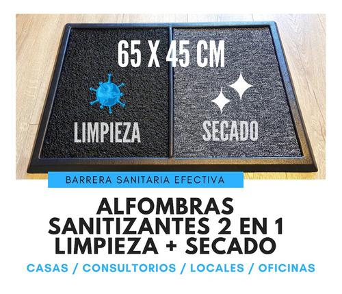 alfombra sanitizante bandeja desinfeccion 2en1 limpia y seca