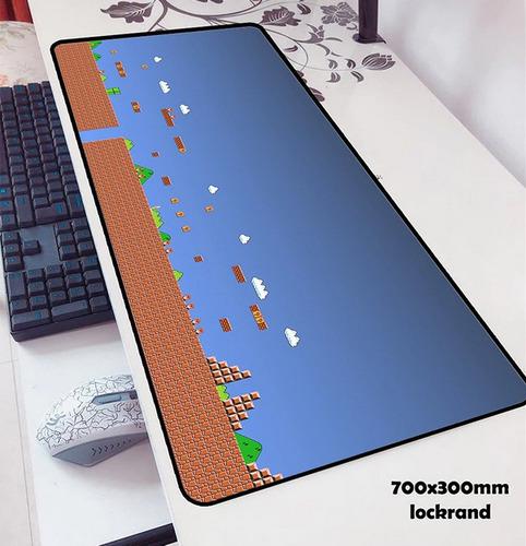 alfombra teclado mouse de mario bros 30x70cm nueva