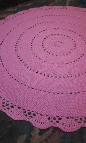 alfombra tejida, crochet