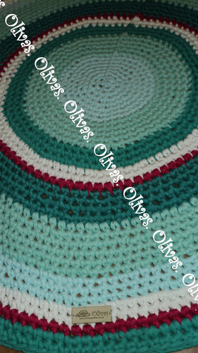 alfombra totora divina olivas 1mt extra  calidad confeccion