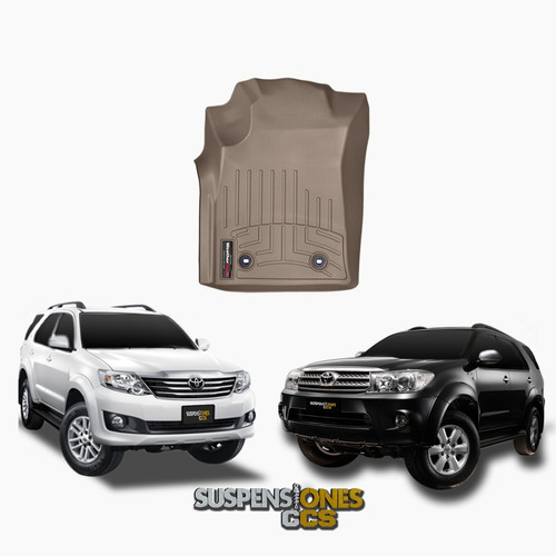 alfombra weathertech fortuner  2008 - 2019 juego completo