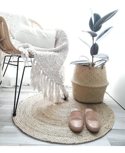 alfombra yute redonda 80cm