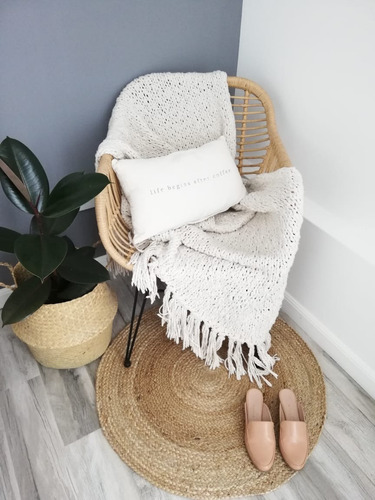 alfombra yute redonda
