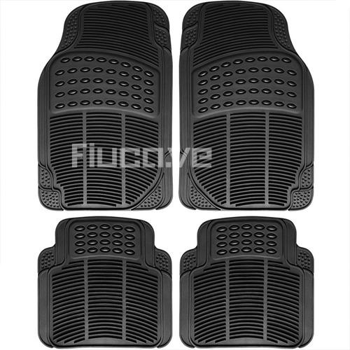 alfombras carro universales vehiculo goma negras 4 piezas