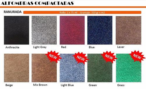 alfombras compactadas ranuradas y lisas x rollo 100 m2