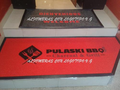 alfombras con logo/ publicidad