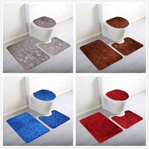 alfombras de bano set 3 piezas varios colores inc iva y gara