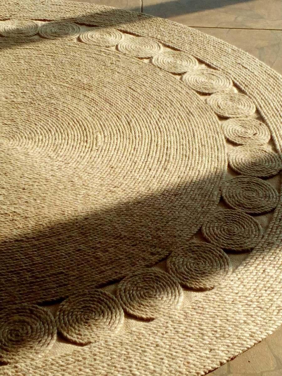 Alfombras de yute rusticas 1 hechas a mano for Alfombras nudos hechas mano