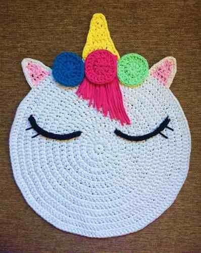 alfombras en crochet