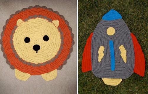 alfombras infantiles, crochet