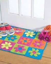 alfombras infantiles crochet en mercado libre