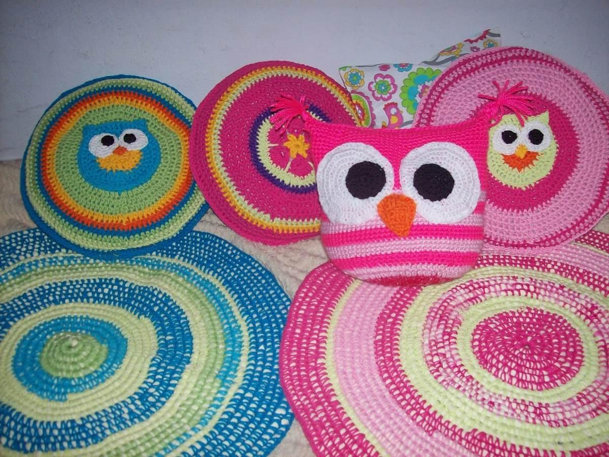 Alfombras infantiles crochet en mercado libre - Alfombras redondas infantiles ...