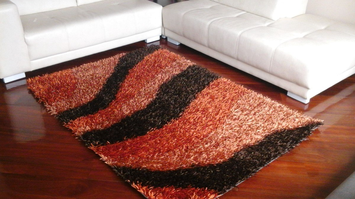 Alfombras modernas lana abultada alto pelaje u s 140 00 - Alfombras de pasillo modernas ...