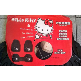 Alfombras Para Carro En Dos Modelos Hello Kitty 5 Piezas