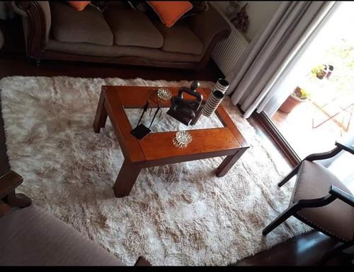 alfombras peludas 2.00 x 2.40 cafe mixto + encio gratis