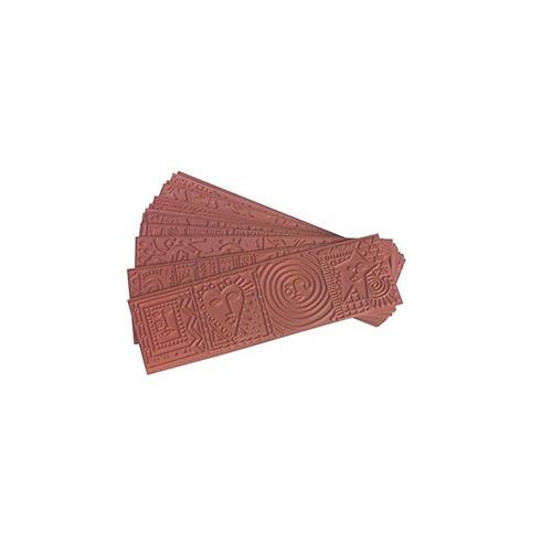 alfombrilla de impresión de patrón de goma de saxofón, rojo,