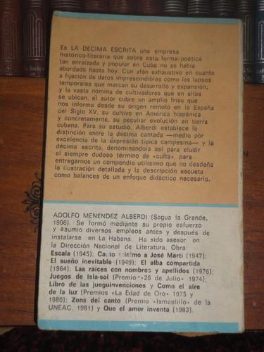 alfonso menéndez alberdi la décima escrita