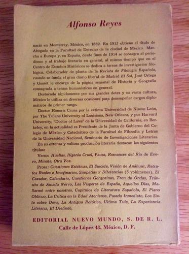 alfonso reyes. tentativas y orientaciones. ed. nuevo mundo.