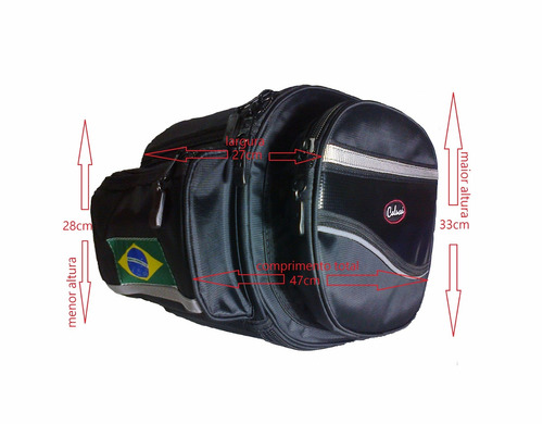alforge bolsa mala lateral moto trail  42l pronta entrega