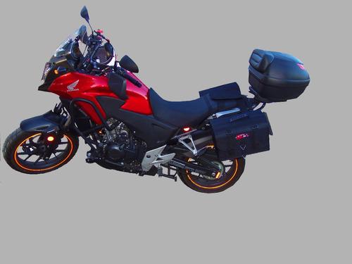alforge de moto modelo rigido 30 litros com clic rapido