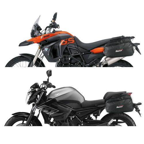 alforge mala lateral moto knight 24 litros 100% impermeável