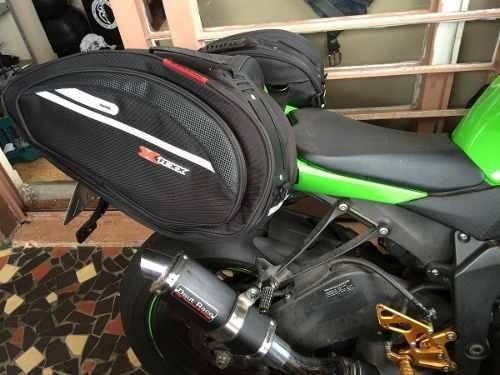 alforge mala lateral moto texx impermeavel black knight 30l