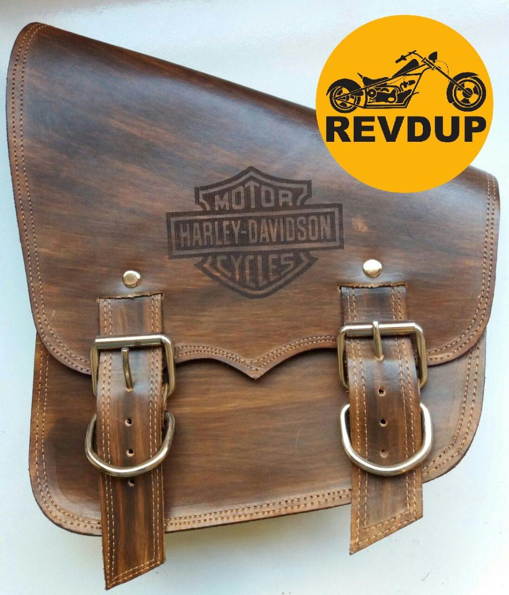 8996c7ab1 Alforge Saddlebag Solo Bolsa Lateral Couro Whisky Harley - R$ 389,00 em  Mercado Livre
