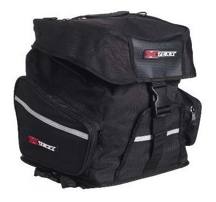 alforge traseiro mala bagageiro moto com capa impermeável