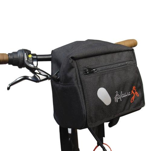 alforja bolso delantero bicicleta manubrio halawa correa