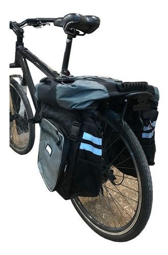 alforja bolso para bicicleta - desmontable - 45 litros