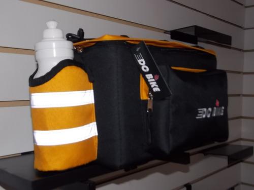 alforja bolso para portaequipaje  c/ botella incluida 10l