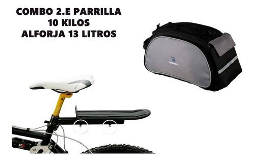 alforja maletín y parrilla bicicleta urbana 13-15l +obsequio