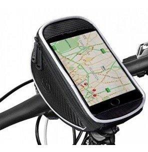 alforja porta celular bicicleta delantera al manubrio