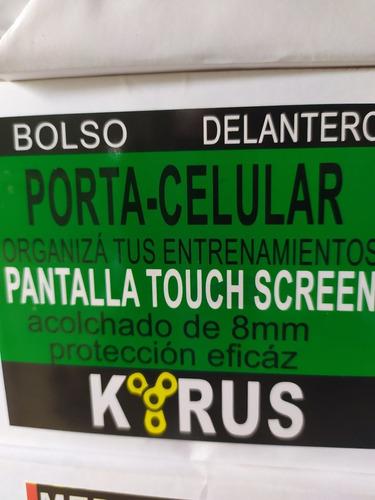 alforja porta celular ciclismo delantero touch screem