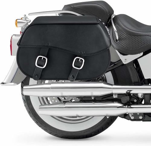 alforjas de cuero para motocicleta nomad usa, con tachas,