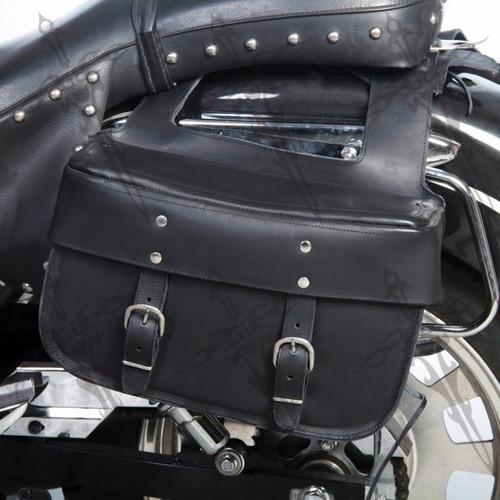 alforjas fabricadas en piel para diversas motos