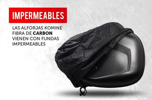 alforjas moto de fibra carbono impermeables