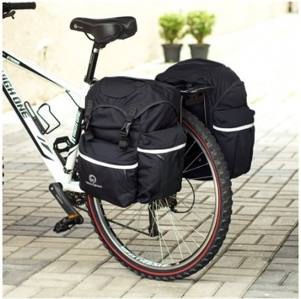 alforje bike 70l c/ capa de chuva northpak, cicloturismo