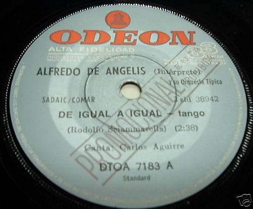 alfredo de angelis de igual a igual vinilo simple arg promo