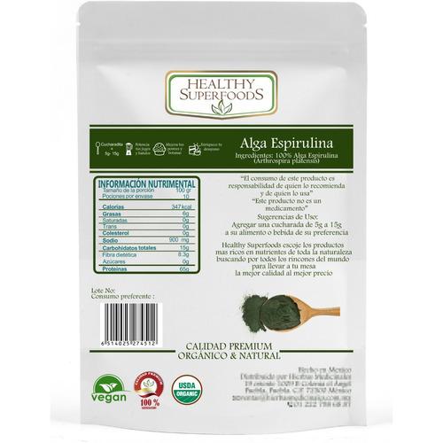 alga espirulina orgánica 1kg
