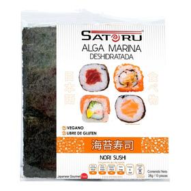 Alga Marina (nori) Para Sushi Con 10 Hojas / 28g