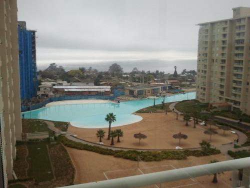 algarrobo, condominio laguna vista excelente vista al mar