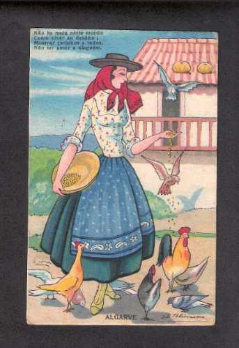 algarve- portugal -circulado-1937 - belissimo