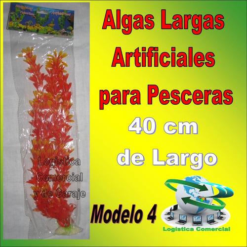 algas largas decorativas artificiales pesceras adorno peces
