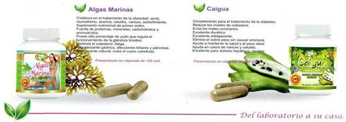 algas marina natural plus cotrol peso cap x 100 ext x 500ml