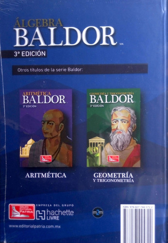algebra baldor 3ra edicion original sellado envio gratis